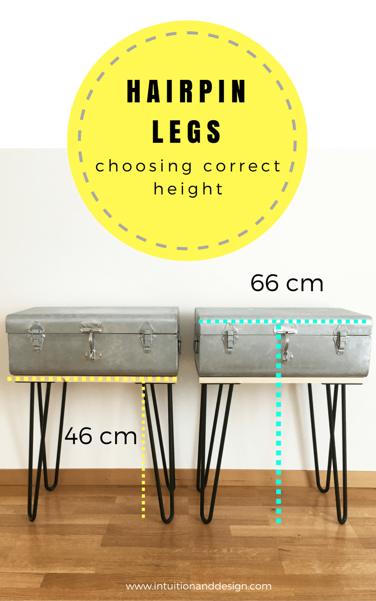 Hairpin legs choosing correct height