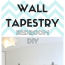 Wall tapestry bedroom DIY
