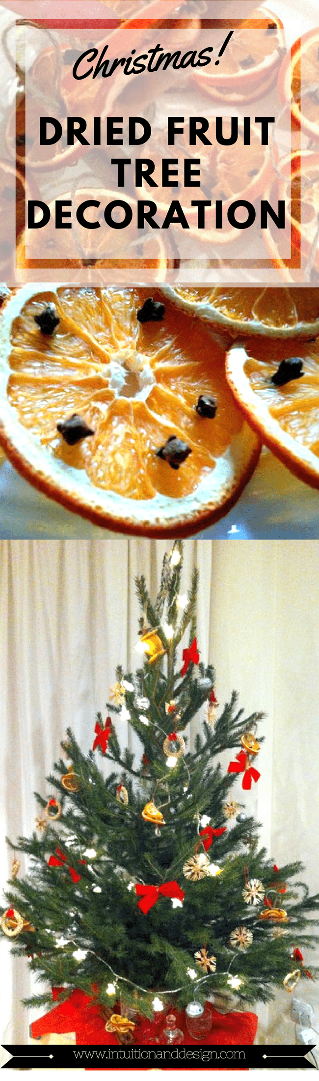 Homemade Dried Fruit Christmas Tree Decoration
