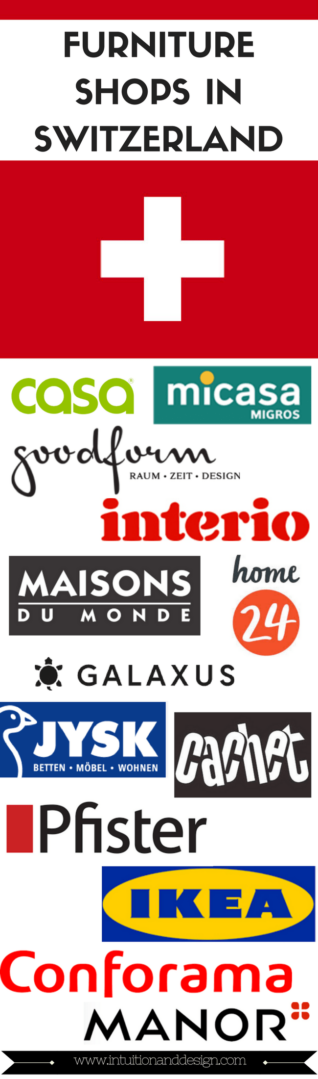 Furniture shops in Switzerland